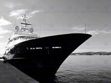 Elegante Yacht Marina Nero Bianco Foto Stampa Artistica Poster Foto bmp151a