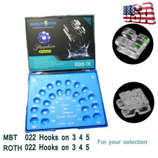 20 pcs Orthodontic Monocrystalline Sapphire Dental Ceramic Bracket MBT/ROTH 0.22