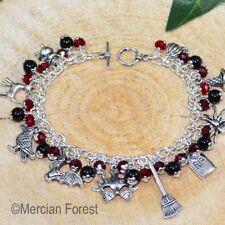 DOLCETTO o Scherzetto Halloween Bracciale con Charm-Nero e Rosso-gioielli spettrale