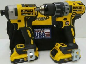 DEWALT 20V MAX XR BRUSHLESS COMPACT DRILL/DRIVER & IMPACT DRIVER COMBO KIT - USA
