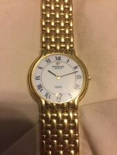 Vintage Raymond Weil Fidelio Geneve 18k Gold Electroplated Wrist Watch