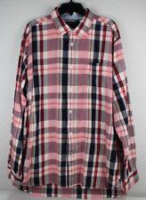 Tommy Hilfiger shirt men's long sleeve multicolor cotton size XL/TG/XG