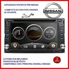 AUTORADIO 2 DIN NISSAN QASHQAI  X-TRAIL JUKE PATHFINDER Navigatore Comandi dvd