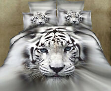 Tiger Duvet Doona Quilt Cover Set Queen Size Animal Bed Pillow Cases Bedding New