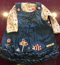 Ex Bébé Boden nouvelle robe réversible Hérisson Bunny Stripe Woodland de conte de fées long