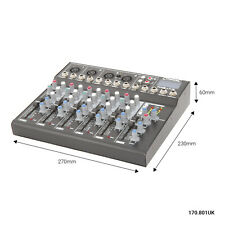 Citronic CM6-LIVE 6 Channel Compact Mixer with Delay and USB/SD Player