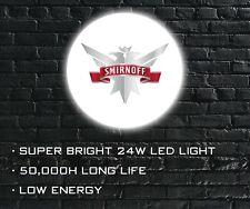 More details for smirnoff vodka led wall light, wall mounted led sign for bar, shop, man cave etc