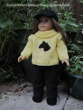 """KNIT PATTERN """"Tally""""HKD611: Dolls Clothes sized to fit  18"""" Dolls/American Girl"""