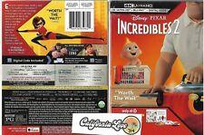 Incredibles 2 4K Ultra Hd + Blu-Ray + Book Disney Rare Pixar ✔☆Mint☆✔ No Digital