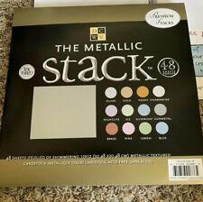 "DCWV Premium Stacks Metallic Shimmering Textured Cardstock Pack 12"" x 12"" 45 pk"