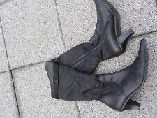 Paul Green Stiefel schwarz Gr. 40  61/2 echt Leder !!