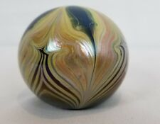 Kent Fiske Art Glass Paperweight - Pulled Feather - Signed 1976