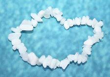 Natural Genuine White Agate Crystal Gemstone Bracelet Reiki Blessed + gift Bag