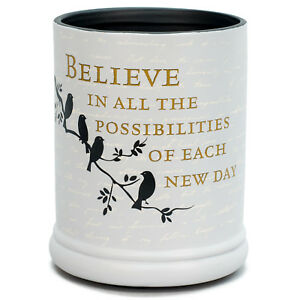 Believe in Tomorrow Ceramic Stoneware Electric Large Jar Candle Warmer