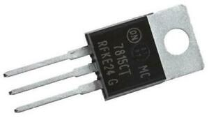 2 x ON Semiconductor MC7815CTG Linear Voltage Regulator 1A 15V ±4%, 3-pin TO-220