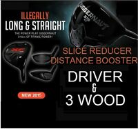 BANNED ILLEGAL DRAW #1 DRIVER & 3 WOOD OFFSET ANTI-SLICE KILLER GRAPHITE SENIOR