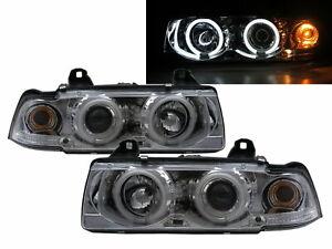 3-Series E36 1990-1998 4D/5D CCFL Projector Headlight Chrome EUROPE for BMW LHD