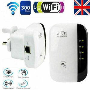 WiFi Signal Repeater Extender Range Booster Internet Network Amplifier - UK Plug
