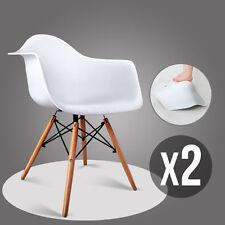 2 Weiß Esszimmerstuhl Stüle mit Retro Kunstleder Polstert Esszimmer Bürostüle