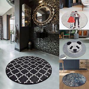 Non-slip Circle Rugs living room 100cm Round Mat Washable bath-kitchen Carpet