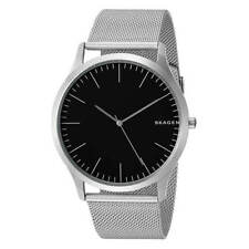 NWT Skagen Men's Jorn Stainless Steel Mesh Band Black Dial Watch SKW6334 $125