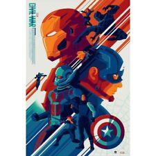 Captain America: Civil War Marvel Variant screenprint by Tom Whalen