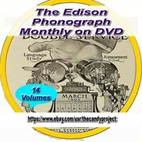 14 Volumes Edison Phonograph Monthly Vintage Books Collection DVD