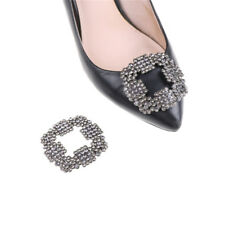 1PC Alloy Rhinestones Crystal Shoe Clips Women Bridal Prom Shoes Buckle Decor HU