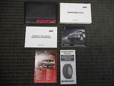 2005 Pontiac Montana SV6 Owners Manual with Audio CD
