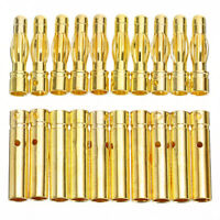 10 Pairs/20pcs 4mm Gold Plated Bullet Banana Plug Connector For RC Battery NEWLY