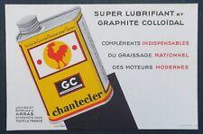 BUVARD Huile CHANTECLER bidon oil can coq  Schwanz cock blotter Löscher