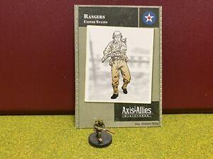Axis & Allies Miniatures, World War II, USA, Rangers Soldier