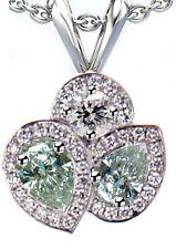 3.25ct VVS1-WHITE ICE BLUE PEAR REAL MOISSANITE DIAMOND 925 SILVER PENDANT