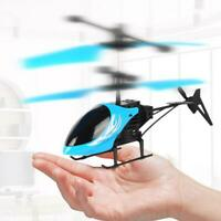 Mini Helicopter Induction Aircraft RC Drone Light Toys New G5T9