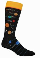 Planet Socks - Foot Traffic Mens space Novelty galaxy Dress Socks astronomy