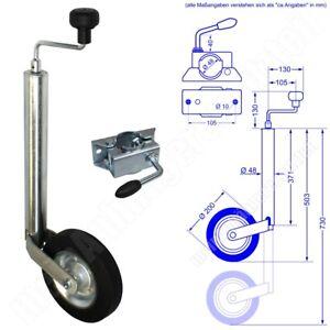 150kg Anhängerstützrad Stützrad für Pkw Anhänger Drucklager + Halter