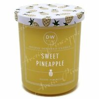 DW Home Small Single Wick 3.8 oz Richly Scented Yellow Candle - Sweet Pineapple