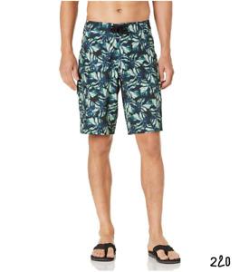 "Goodthreads Men's 11"" Inseam Swim Boardshort Black Pam Frond 38"