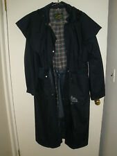 "Full Length Cape Ladies Riding Coat Black PVC Rain Resistant Womens M 40"" 102cms"