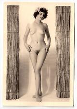 #775 ROESSLER AKTFOTO / NUDE WOMAN STUDY * Vintage 1950s Studio Photo - no PC !