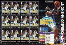 MODERN GEMS - Sierra Leone - Carmelo Anthony Denver Nuggets - Sheet of 12 - MNH