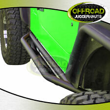 Black Textured Rocker Sliders Nerf Step Bars for 87-06 Jeep Wrangler YJ TJ