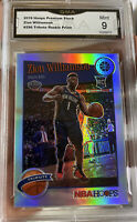 2019 Panini Hoops Premium Prizm Silver Zion Williamson Rookie Mint 9