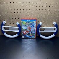 Mario Kart 8 (Wii U, 2014) -Tested - W/ 2 Wii Steering Wheels - FREE SHIP