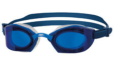 Schwimmbrille Zoggs Ultima Air Titanium Blau mit blauen Gläsern