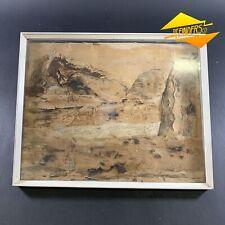 Vintage c.1970's Paper Bark Art Frame Signed 'H.Goodchild' Australiana Wall Art