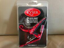 USA Kyser Quick-Change 6-String Capo For Acoustic Guitars, #KG6RBA RED BANDANA