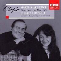 MARTHA ARGERICH/CAHRLES DUTOIT/OSM - KLAVIERKONZERT 1+2  CD KLASSIK NEU CHOPIN