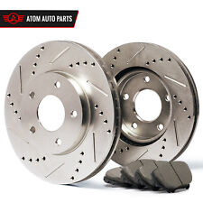2009 2010 2011 2012 Toyota Corolla (Slotted Drilled) Rotors Ceramic Pads F