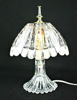 HAND CRAFTED LEAD CRYSTAL Vanity Lamp Boudoir Table Lumiere Night Light VINTAGE